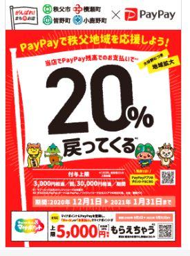 paypay秩父地域応援キャンペーン